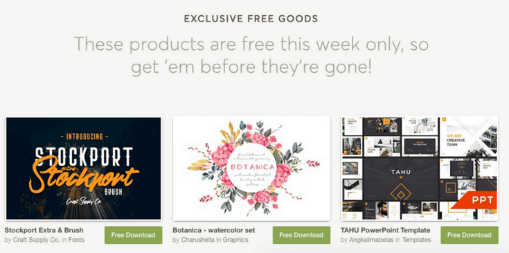 Creative Market Free Downloads Example