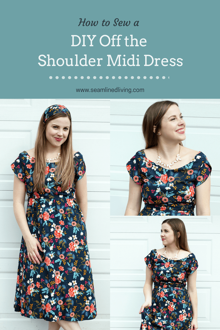 How to Create an Off the Shoulder Midi Dress - Sewing Projects | Seamlined Living