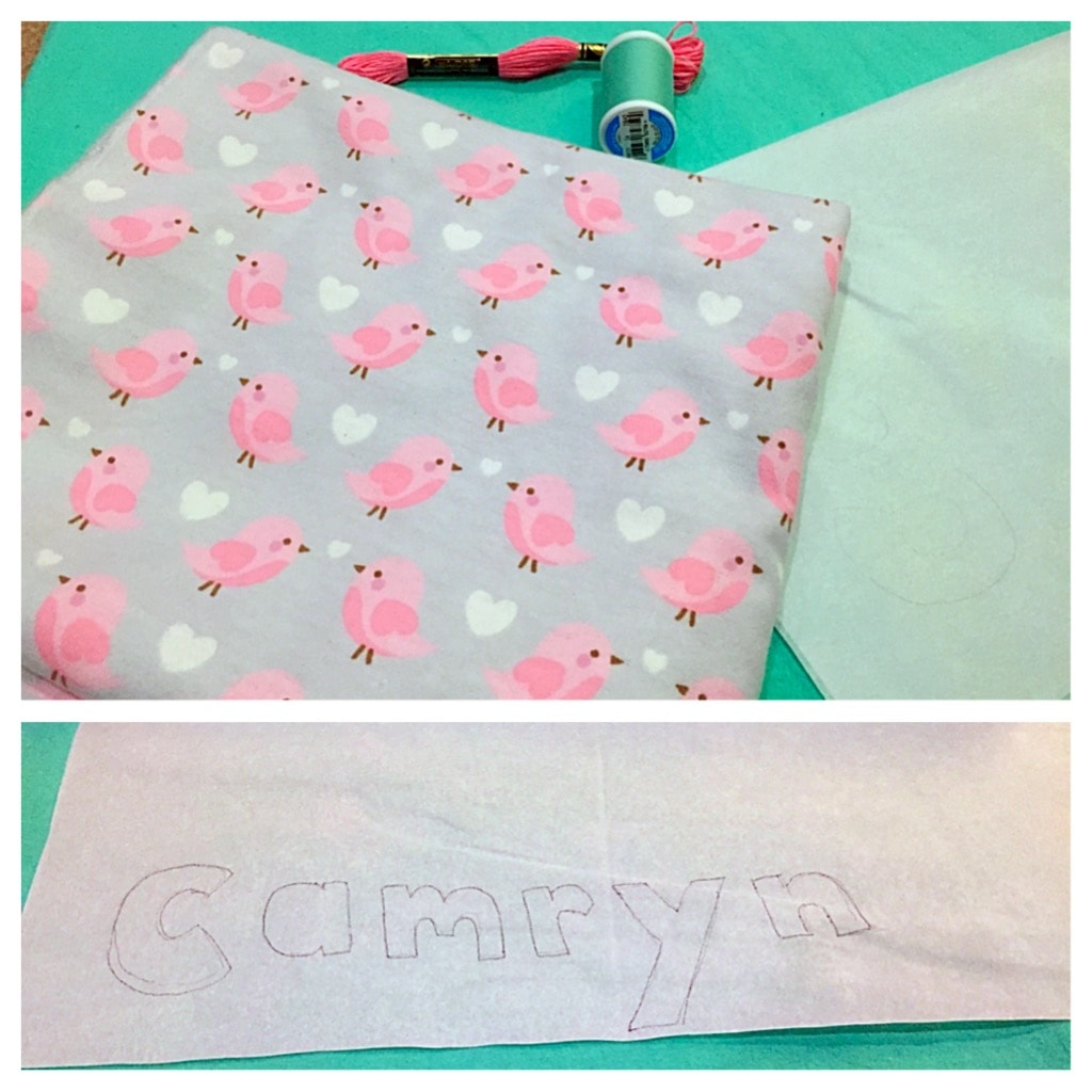 diy personalized baby blanket