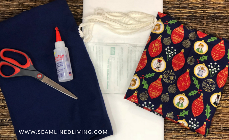 DIY Tree Skirt Supplies | Learn How to make an Easy, No-Sew Christmas Tree Skirt