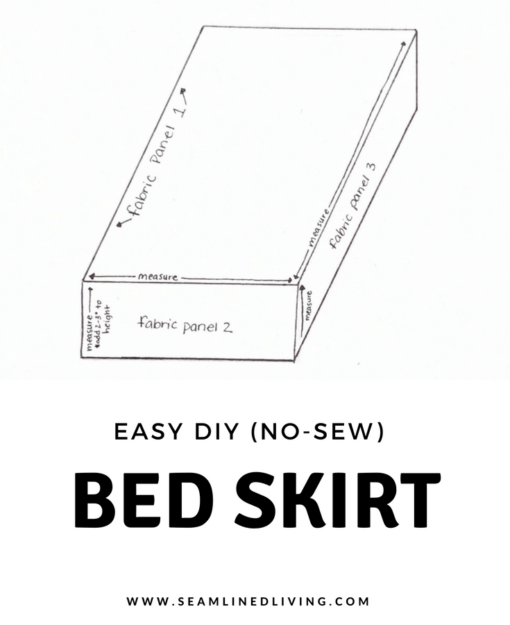 How to Measure for a DIY Bed Skirt | Seamlinedliving.com