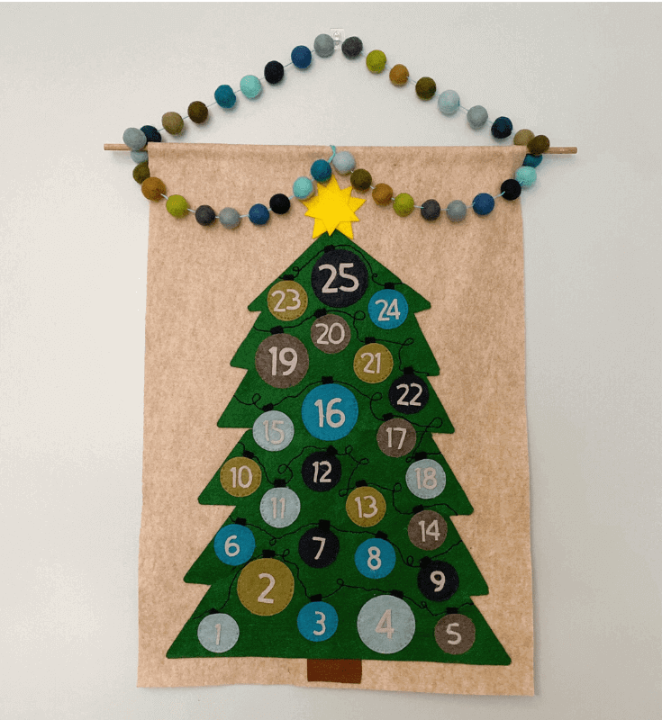 DIY Advent Calendar with Free Cricut Files