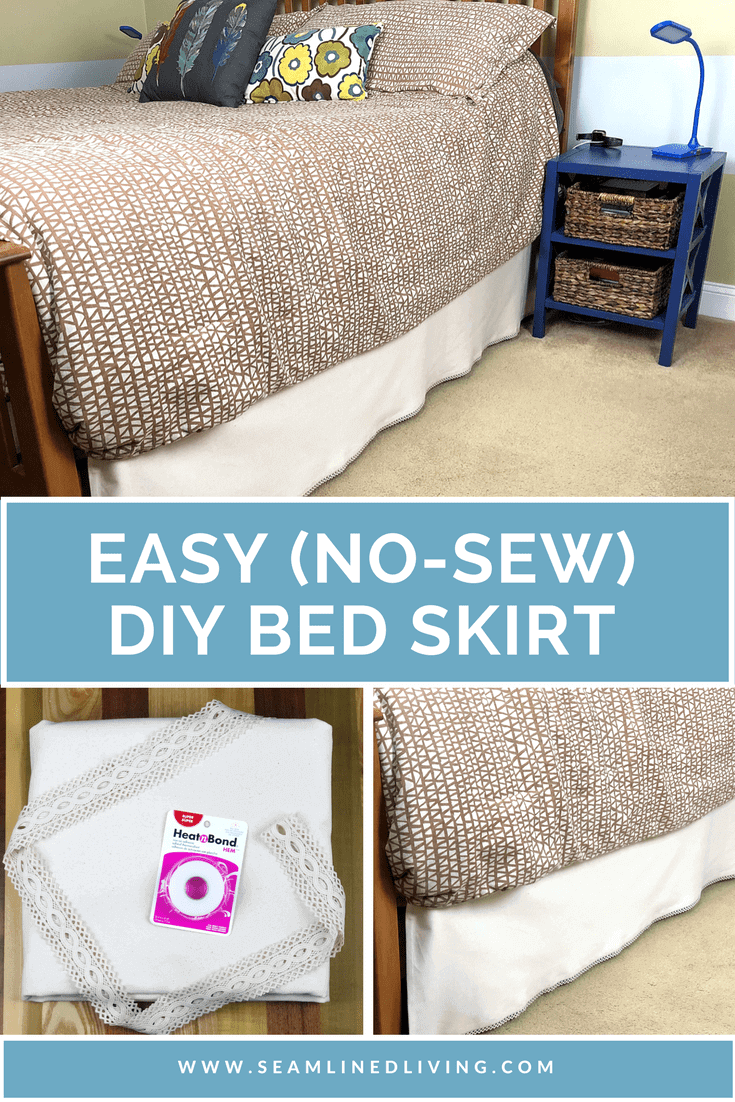 Easy (No-Sew) DIY Bed Skirt Project | Seamlinedliving.com