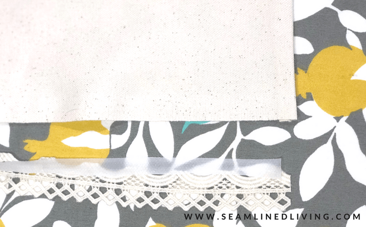 How to Add Fabric Trim to a Bed Skirt | Seamlinedliving.com