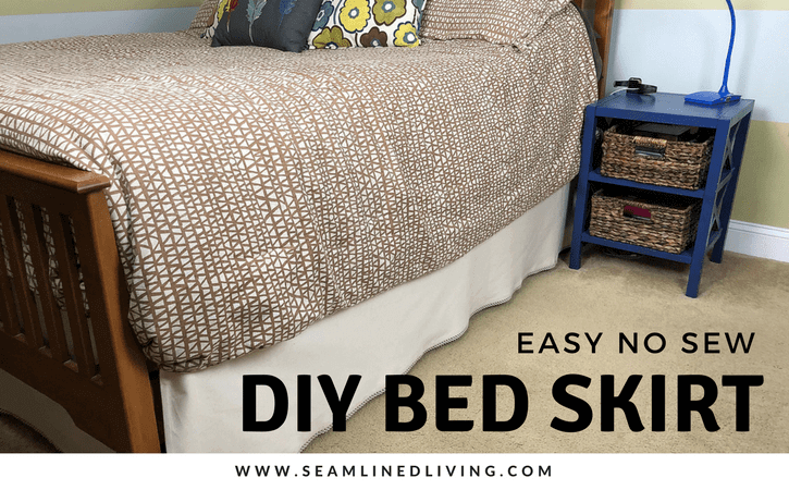 Learn How to Make a Quick and Easy Bed Skirt | Seamlinedliving.com