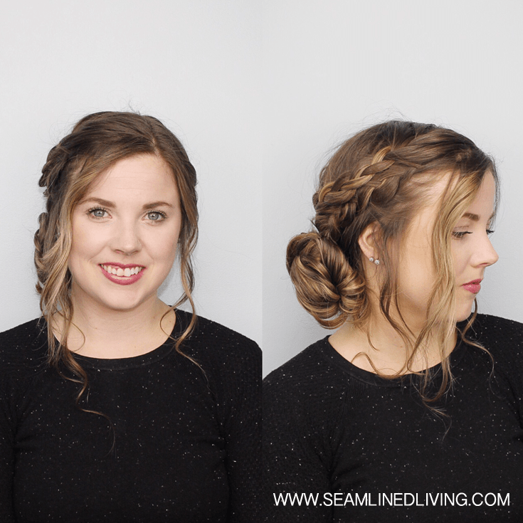 Double Braided, Side Bun with Curls