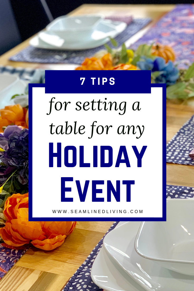 7 Tips on How to Set a Table for the Holidays + Decor Ideas
