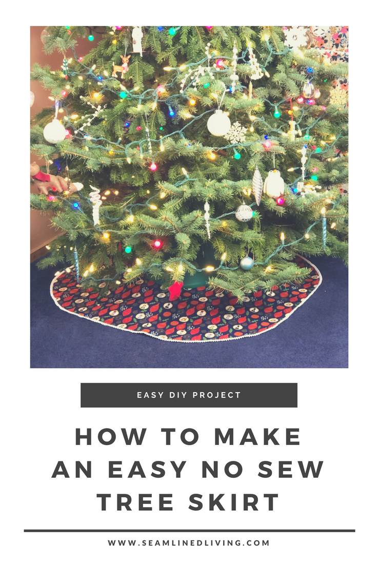 How to Make a No Sew Christmas Tree Skirt - Easy DIY Patterns