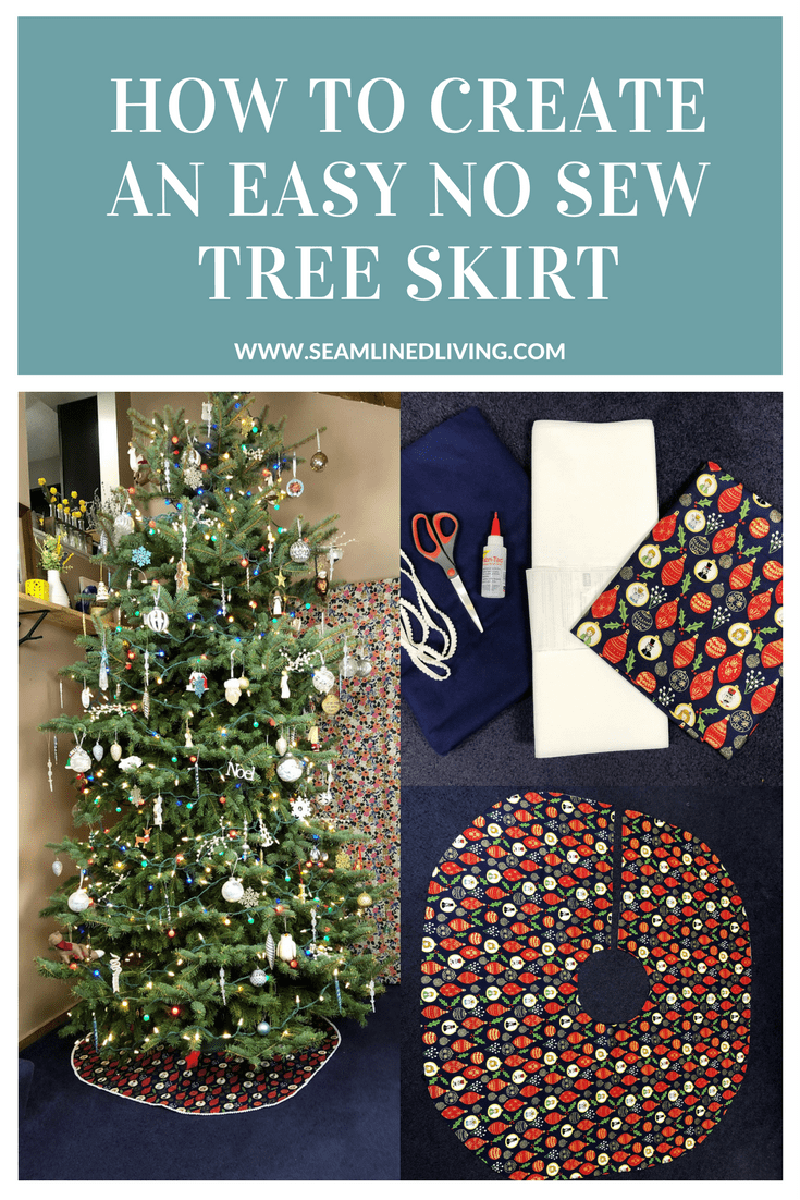 Learn How to make an Easy, No-Sew Christmas Tree Skirt | Seamlined Living