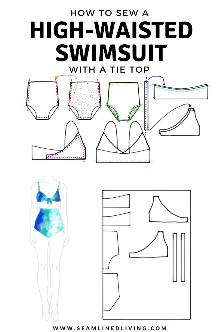 How to Sew a High-Waisted Swimsuit - DIY Bikini Pattern