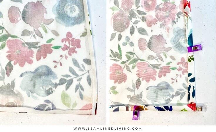 How to Make Cloth Napkins: No Sew Napkins + Napkins with Mitered ...