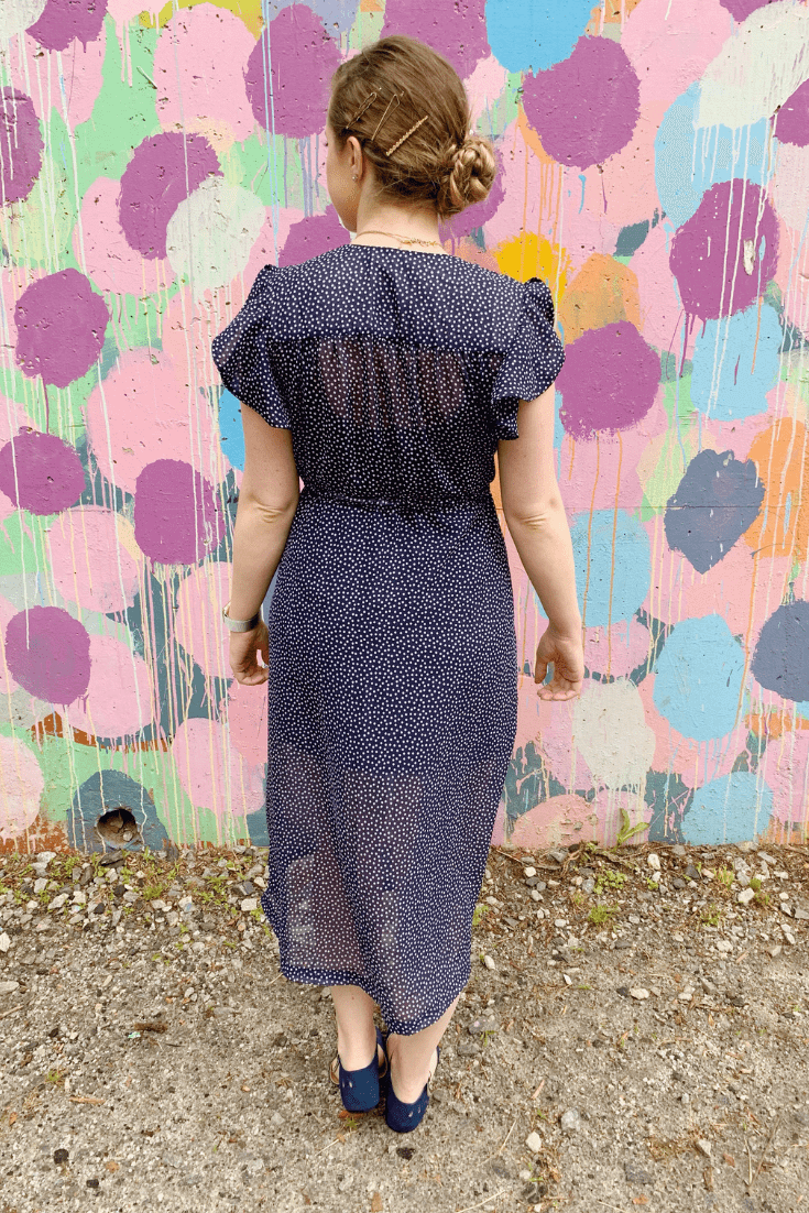 orchid midi dress by chalk and notch