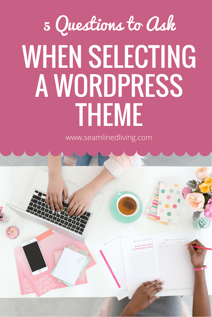 WordPress Template Tips | How to Start a Blog | Seamlined Living