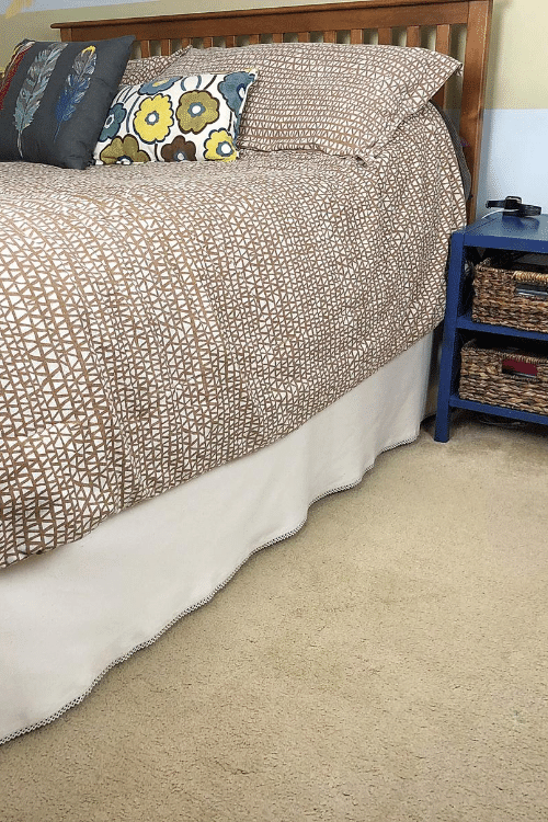 diy no sew bedskirt