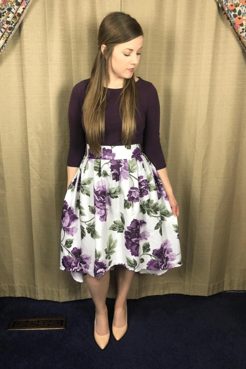 high low skirt refashion