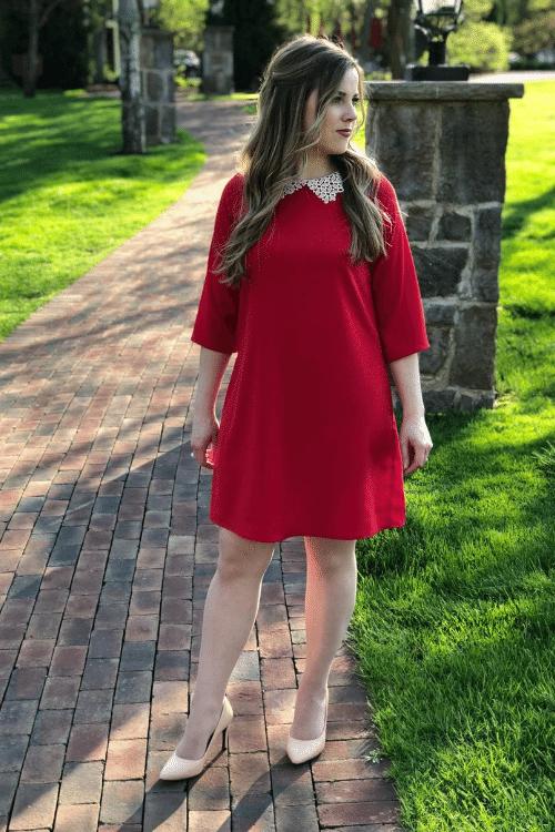 diy kate middleton red dress