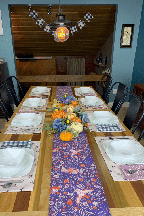 diy placemat and table runner